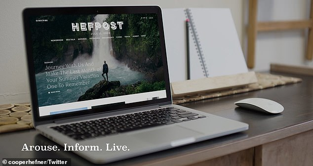 Cooper Hefner is launching HefPost with the slogan 'Arouse. Inform. Live' under Hefner Media Corporation
