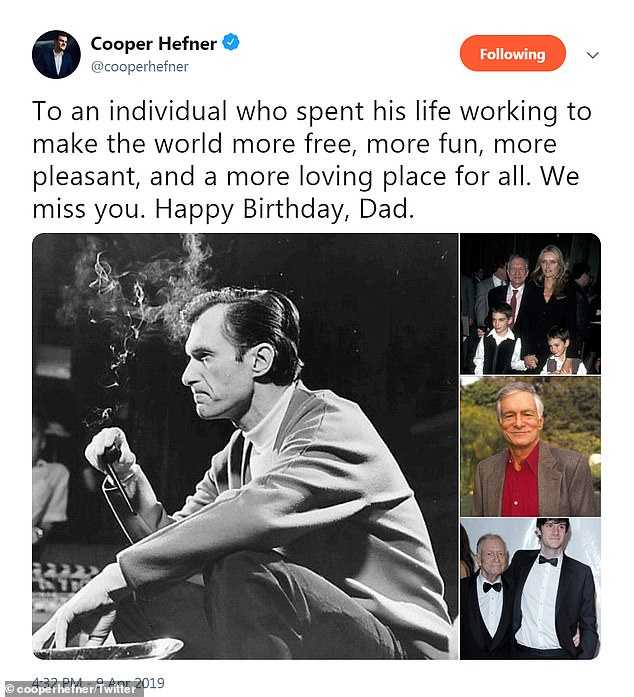 Cooper paid tribute to his late father on his birthday this week, a year and a half after his death