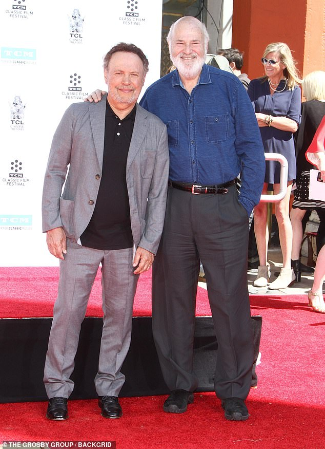 Showbiz legacy:When Harry Met Sally... director Rob Reiner, the son of Mel Brooks collaborator Carl Reiner, was one of the attendees of Friday's party celebrating Billy