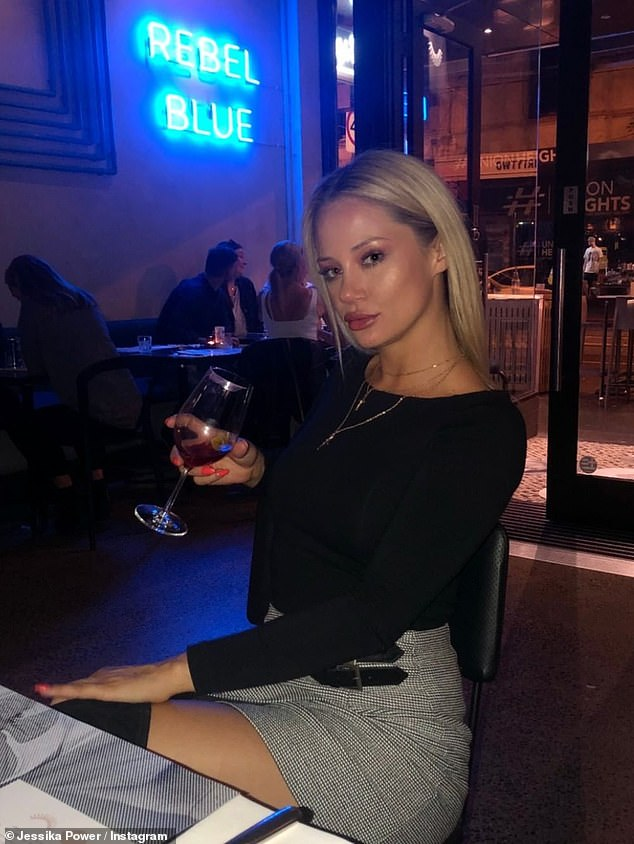 """Jess said about the controversial clip: 'As anybody could see I am completely over exaggerating my words and actions to the camera. There is no way I would go out in public let alone drive a car if I was that ''drunk""""'. Pictured in a recent social media snap"""