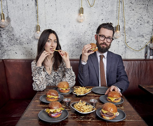 MEAT-FREE: Barney Calman and Eve Simmons sample alt-burgers at Dirty Bones in Kensington, west London