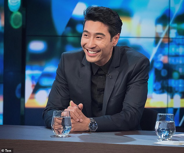 Struck lucky: In an interview last year following the release of Crazy Rich Asians, he revealed his break in acting came following a chance encounter in a casting studio (pictured on the set of The Project)
