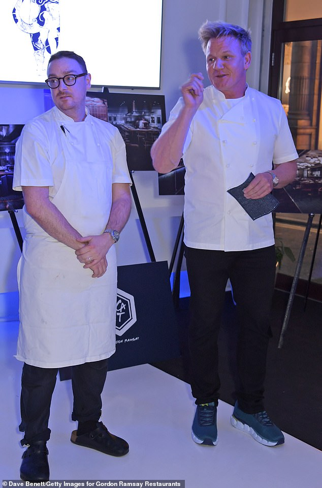Pictured: Gordon Ramsay with Executive Chef Ben Orpwood at the preview event last week