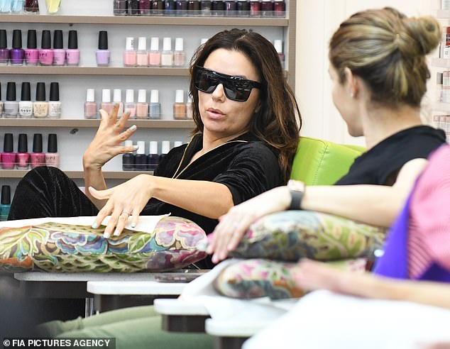 Treating herself: Eva Longoria enjoyed a day out in Beverly Hills this weekend as other celebs flocked out of town to the Coachella Music Festival