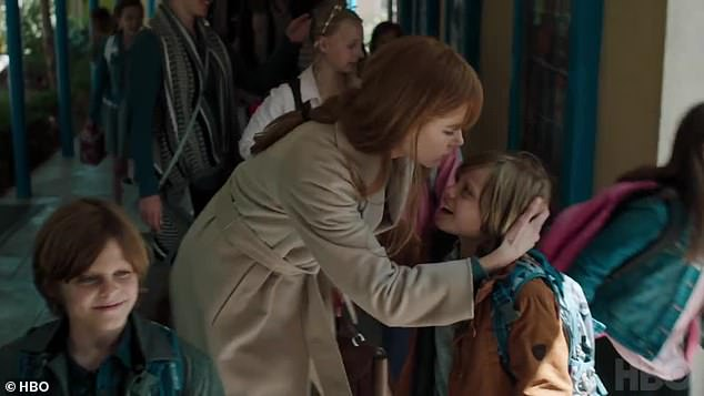 Back to normal?The trailer begins with Kidman's character kissing her son on the head at school