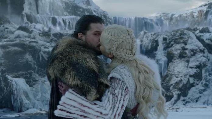 Scared of the dragon: However, as they start kissing, which the dragons take umbrage to, but Daenerys tells him not to be afraid, but he keeps eyeing the dragon