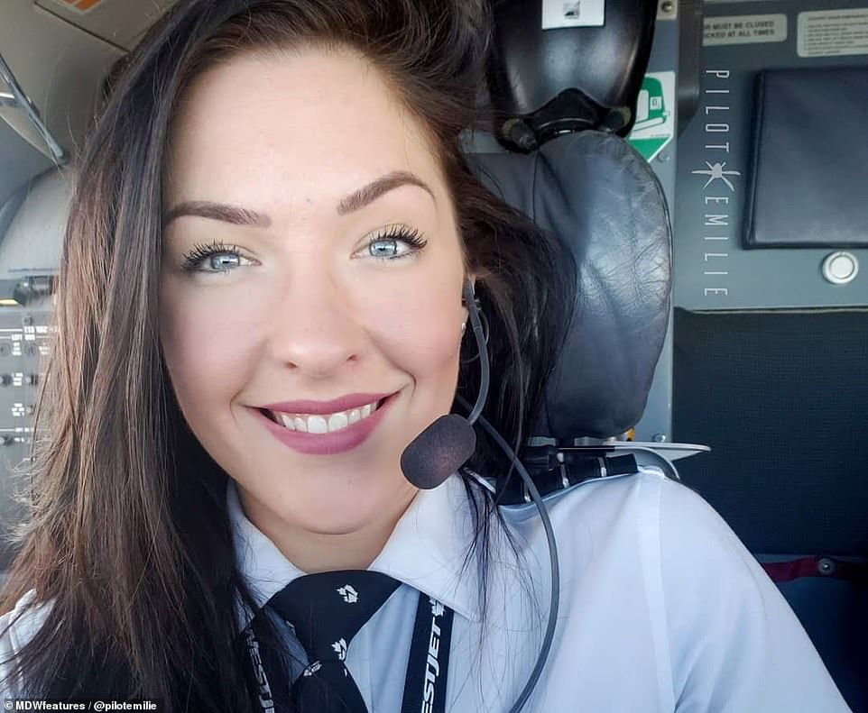 Canadian pilot Emilie Christine, who has over 38,000 followers on Instagram after sharing pictures of her globetrotting