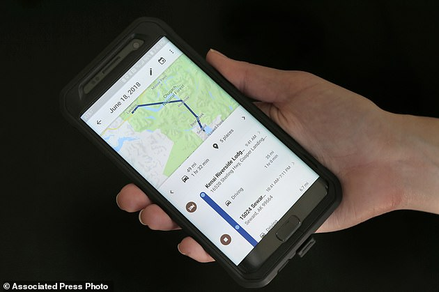 Data harvested by Google on the location of its users is being used by police to find new leads in cases that have gone cold. Law enforcement agents have been trawling information taken from the search giant's Sensorvault database to help them in criminal cases (stock image)