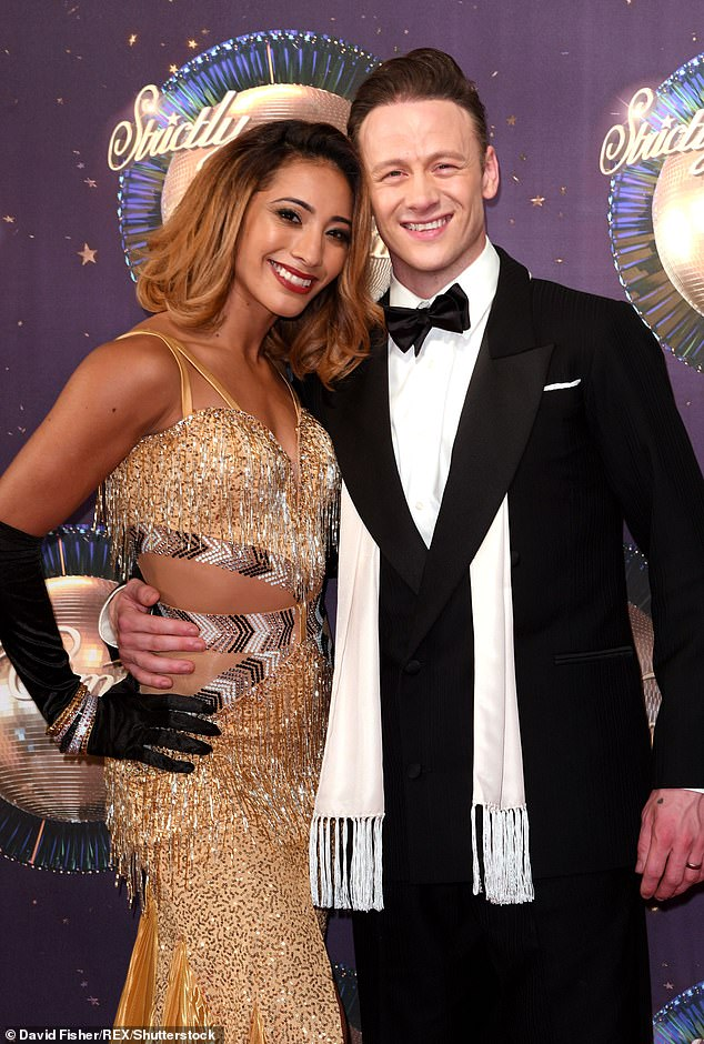 Split: Karen, who has remained close to and continued to dance with Kevin since their split a year ago, has so far remained quiet on the news of Kevin's controversial new romance