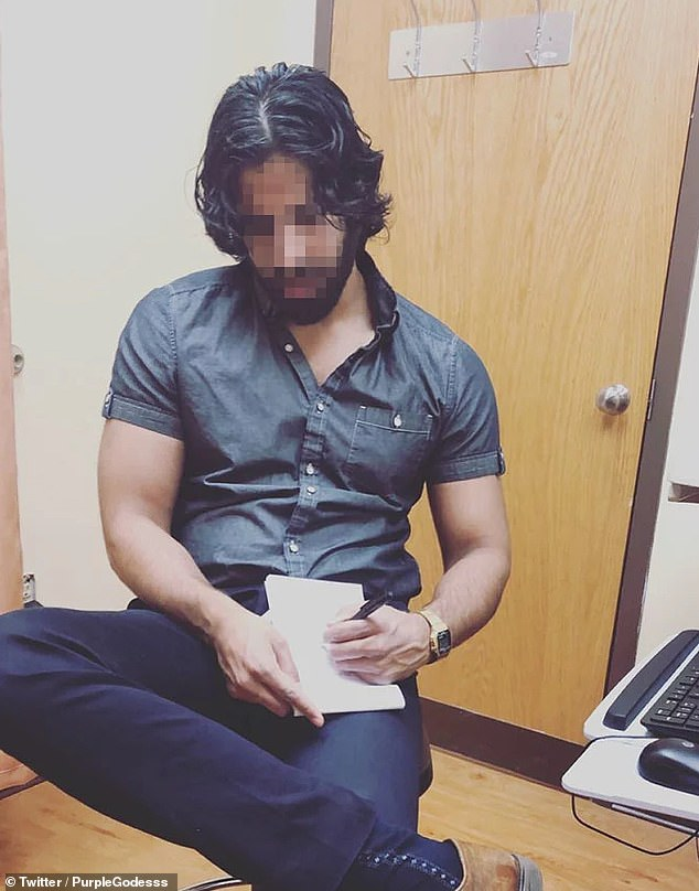 A photo of an unnamed dermatologist was shared by one of his client, who goes by the username Purple Godesss on Twitter. The picture, taken without him knowing, fired up a debate on sexual harassment online