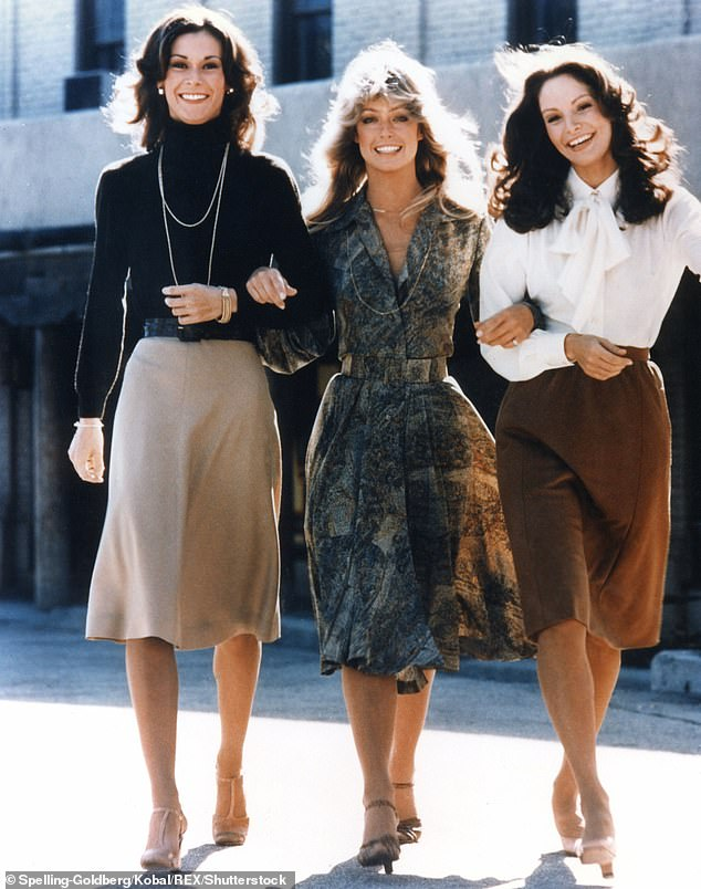 Forever remembered:It also details that the portrait is actually one of two of the Charlie's Angels bombshell created by Warhol. Farrah is pictured with Kate Jackson and Jaclyn Smith in 1978