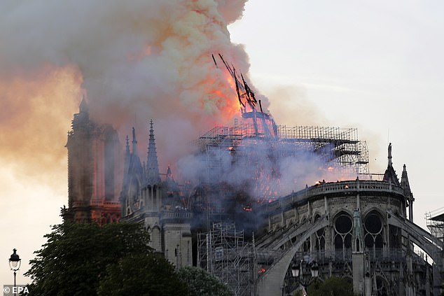 A blaze has engulfed Notre Dame cathedral in Paris since earlier this afternoon. French authorities have revealed why they won't be using a water-bomber jet to drop water over the building
