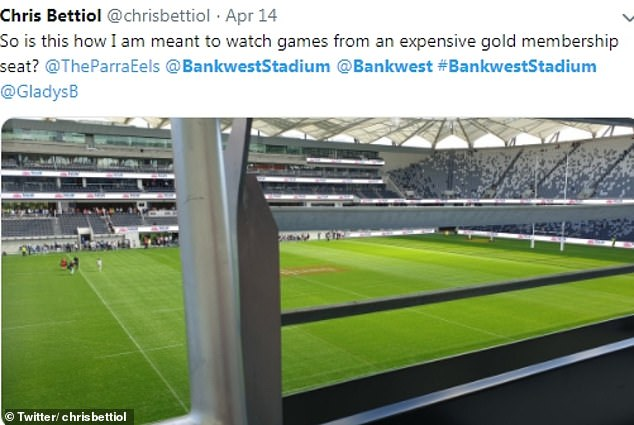 Fans were unimpressed with the new stadium's layout, taking to Twitter to point out that some seats had an obstructed view of the field