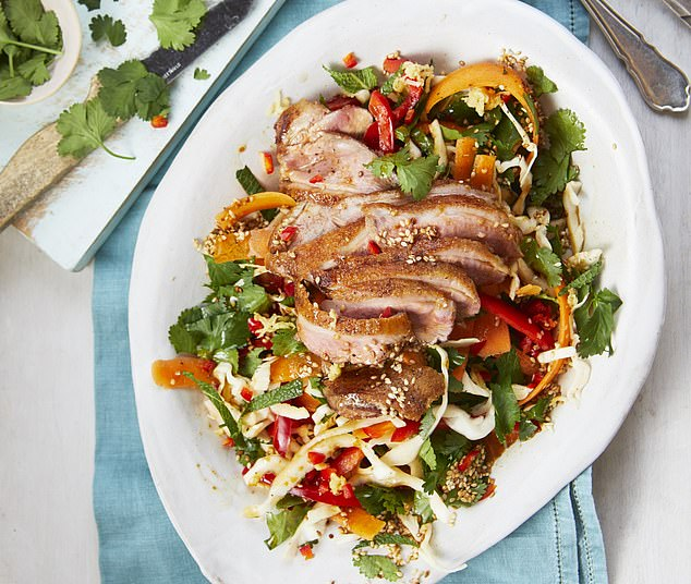 Easy five-spice duck salad