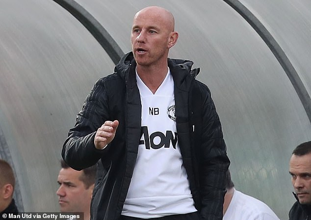 During the match of United Under 19s against Juventus in November 2018 on the line