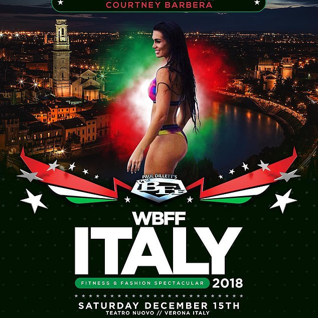 The Insta-influencer travelled to Italy in December to compete in WBFF Italy - a fitness and beauty pageant - where she came in second in the bikini contest
