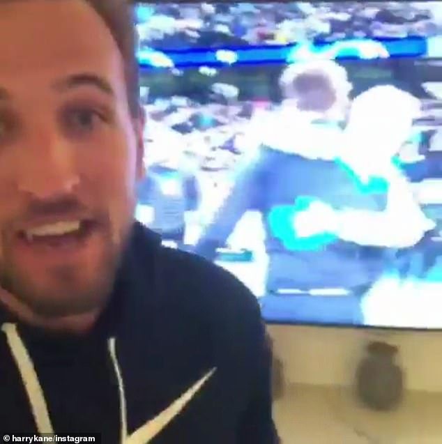Kane cheered in front of his TV when Spurs reached the last four for the first time in their history