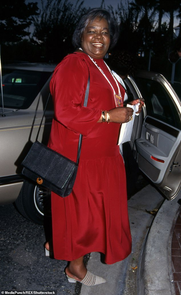 History: Born in 1935, Vernita was still a teen when she gave birth to Oprah with Vernon Winfrey (Lee pictured in 1995)