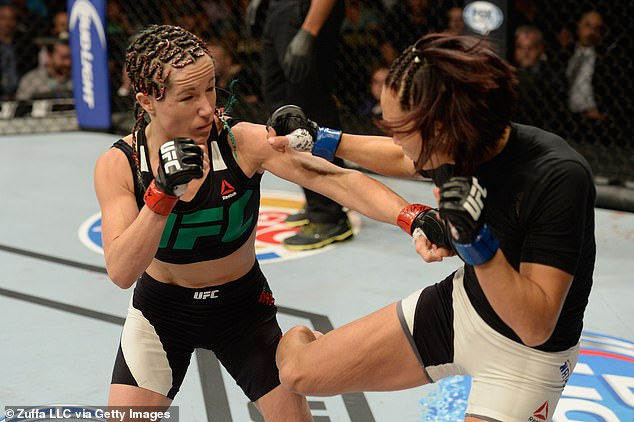 A former UFC star, Magana (left) was preparing for an April 26 fight when she herniated a disc