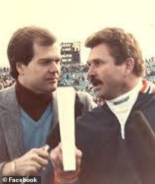 Over his illustrious career, Coppock (left) worked in Indianapolis and New York, but will be primarily remembered for his time in Chicago, where he hosted several cable and sports radio shows. He also co-hosted radio shows with Chicago coaches like Mike Ditka (right) and Phil Jackson.