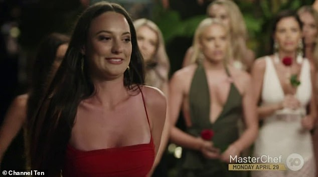 Sad goodbye:Ivan gave Tenille a rose during Thursday night's the Rose Ceremony, leaving Brittney (pictured) without anybody to partner with on the show