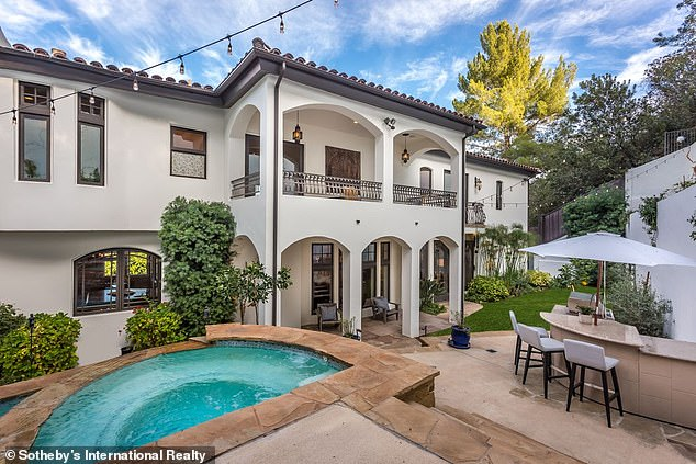 Former home:While she did sell the home at a discount, she still carved out a small profit, since she purchased the home for $2.75 million 11 years ago