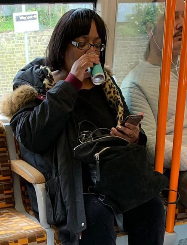 Caught:She's been forced to apologise after she was caught drinking a canned £2 M&S Mojito on the London Overground, after Transport for London introduced an alcohol ban in 2008