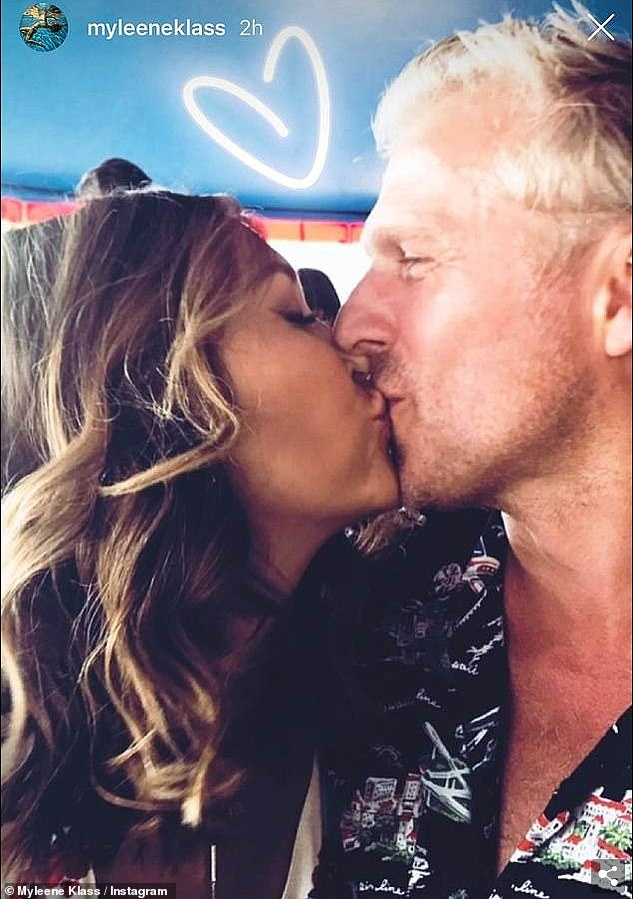 Can't wait for more: Myleene gushed, 'If Sim has his way, we¿ll have another one immediately. I mean, I always wanted a big family. He wants a big family'