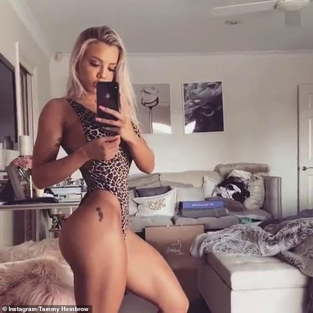 The new Queen of Instagram? She was even compared to Tammy Hembrow (pictured), who has long been considered one of the most successful and well-known Instagram models