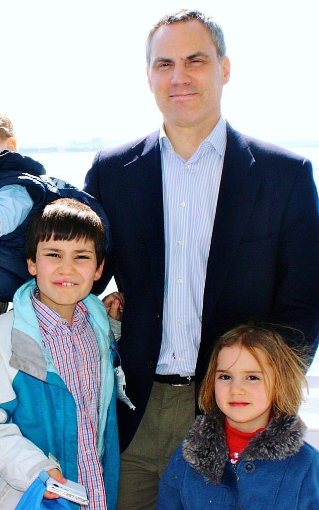 Londoner Matthew Linsey, pictured several years ago with his children Daniel and Amelie, both of whom were murdered on Easter Sunday