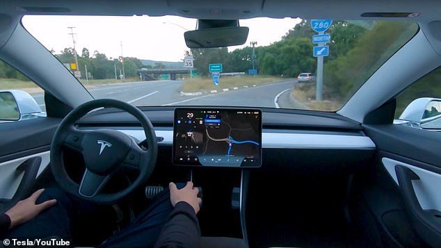 Tesla releases new video of its self-driving software in action