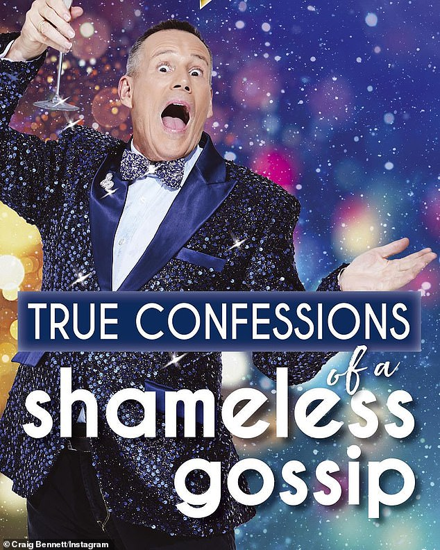 Tell-all:Craig Bennett's bookTrue Confessions of a Shameless Gossip is released on May 1
