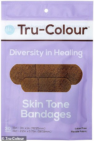 Versatility: The brand of band-aid worn by Dominique in the photo was Tru-Color Bandages -a retailer that specializes in bandages for medium and dark-toned skin