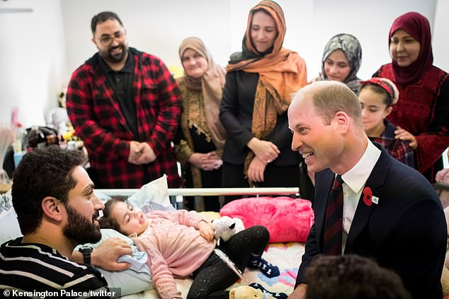 William also made a hospital visit on Thursday and met a five-year-old girl in Auckland who was injured in the terrorist attack and recently woke up from a coma