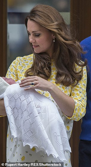 Kate Middleton after the birth of Princess Charlotte