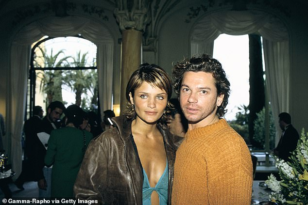 Helena Christensen and Michael Hutchence at The World music awards evening In Monaco city in 1994