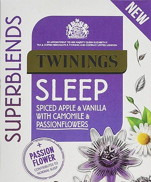 The blend of camomile, passion flowers and apple makes this tea ¿a perfect part of your bedtime routine', apparently...