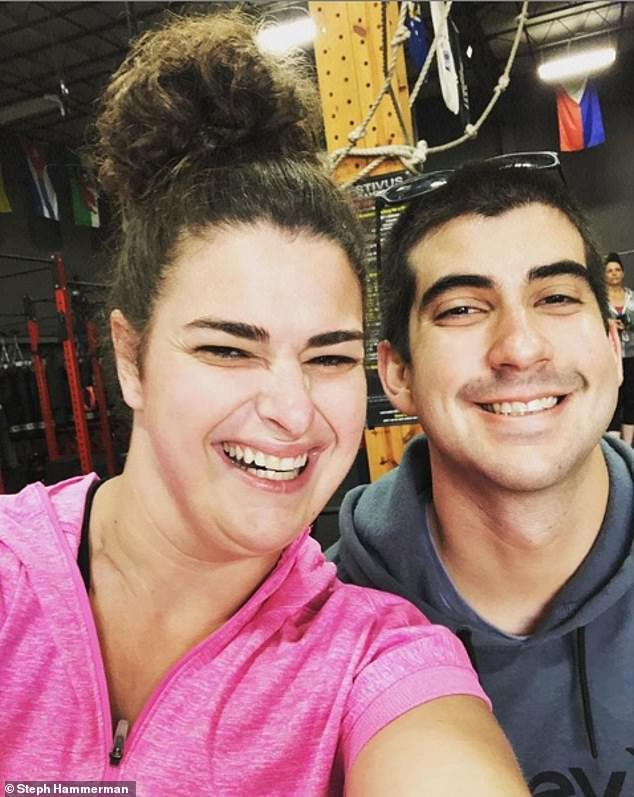 Last year, Hammerman (pictured left, with her boyfriend Tyler) was named Nike's first adaptive training athlete