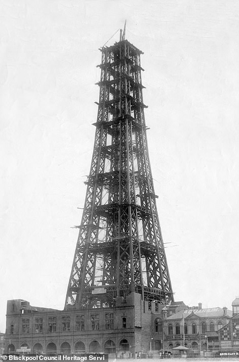 Unseen archive photographs have been unearthed to mark the birthday of the iconic Blackpool Tower