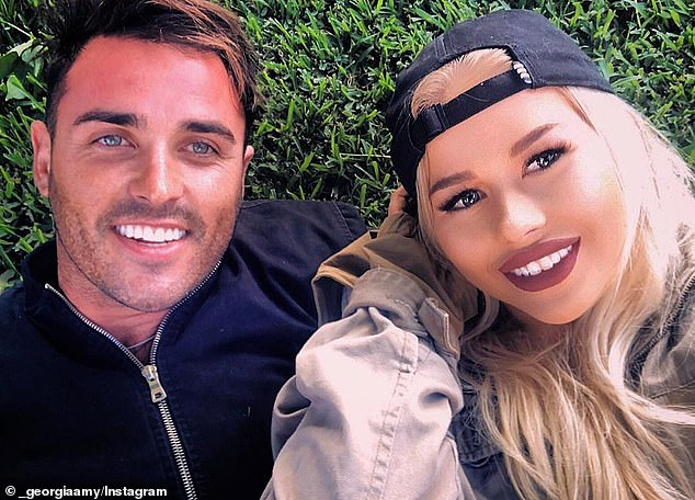 'She sent me a really, really lovely message, just wishing me the best and reassuring me there was not much going on before the show and that it was a weird situation,' Florence said on Friday while speaking to Coffs Coast's Hit105.5. Pictured: Davey and his girlfriend Georgia Cook