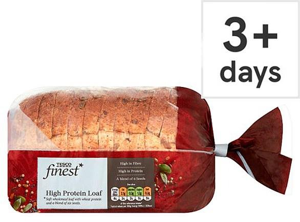 Tesco Finest High Protein Loaf 400g, Tesco, 85p