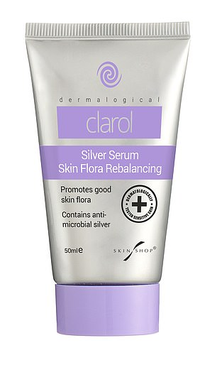The serum(above) costs £12.95 for 50ml and Taylor claimed to notice an improvement in her skin after four weeks