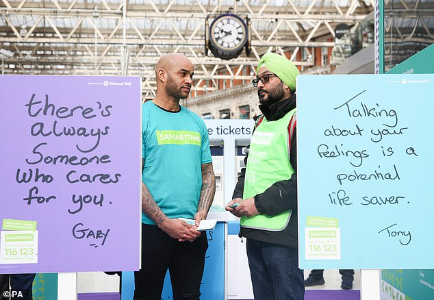 Ex-Premier League footballer and professional boxer, Leon McKenzie and Jagjit Birha, Samaritans Ealing branch helped launch a new campaign to provide help for those who need it