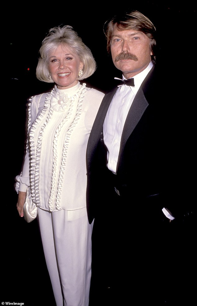 Doris Day poses for a photo with her only child, Terry Melcher. Like his mother, Melcher was a famous musician known for his work with The Byrds, The Mamas, The Papas and The Beach Boys. It is reported that Melcher was Charles Manson's intended victim on the night he murdered Sharon Tate