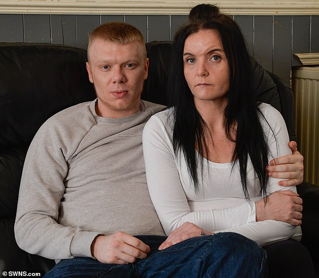 Mr Davison, 24, pictured with partner Barbara Wane, 41, said being on the show ruined his life