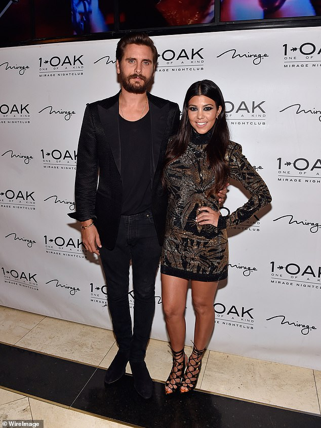 'Soulmates': Disick and his baby mama Kourtney, 40, had an on/off relationship from 2006 to 2015 and remain good friends as they co-parent their kids
