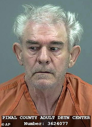 Rodney is pictured above in his mugshot. The 70-year-old is jailed on a charge of abandonment or concealment of a corpse