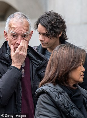 Simon (left) and Mila McMullan, parents of victim James McMullan, arrive for the opening day of the inquest into the London Bridge terror attack on May 7, 2019 in London, England