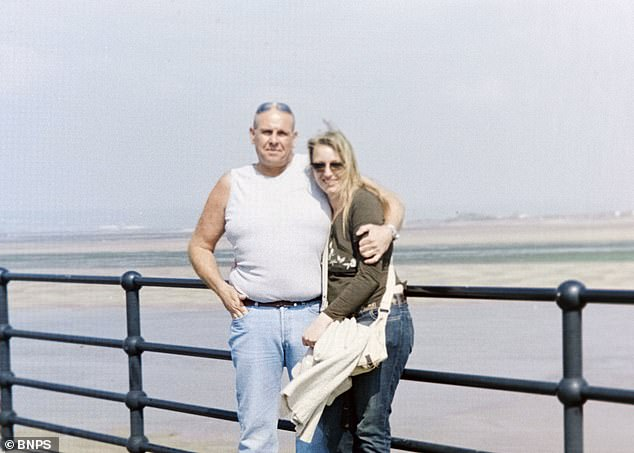 Dianne Healing on holiday in Devon with Steve Dymond in 2004. Yesterday it emerged the pair married in 2004 after Mrs Healing uploaded a marriage certificate to social media, with the caption: 'For the doubters out there', which she said proved her claims
