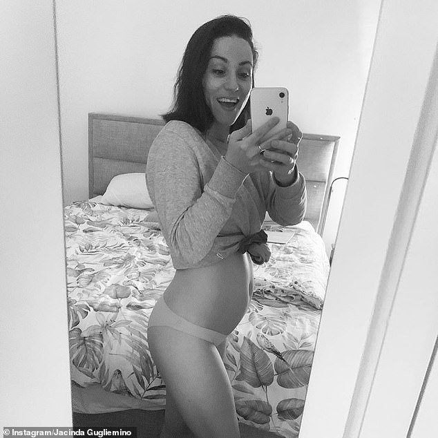 Baby joy! Former Bachelor star Jacinda Gugliemino (pictured) announced that she's expecting her first child with boyfriend Callum Sauer via Instagram on Wednesday